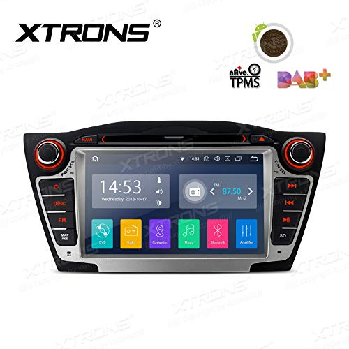 XTRONS Android 8.1 7 inch Touch Display Car Stereo Radio DVD Player GPS Navigator with USB SD Port Bluetooth 5.0 Supports OBD 1080P DVR 4G 3G for Hyundai IX35 Tucson
