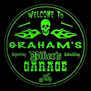 4 x ccqu0616-g Graham es de Motociclista para moto garaje de reparación de cerveza 3D bebida posavasos de