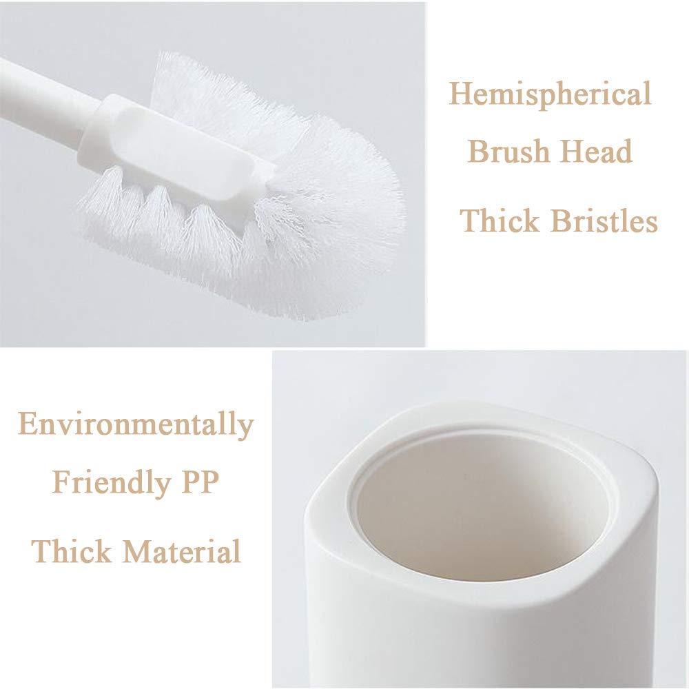 Design Compatto e Moderno per la Spazzola WC da Bagno Bianco Grsafety Scopini per WC Scopino in Plastica con Spazzolino Lungo