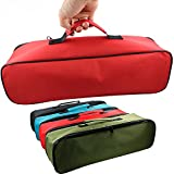 Pack of 4 Large Canvas Tool Bag with Handy Handle/Multi-purpose Heavy Duty Tool Pouch Portable Tote Bags For Men Women - Smart Assorted Colored Storage Organizer HGJ09-B 4 Colors