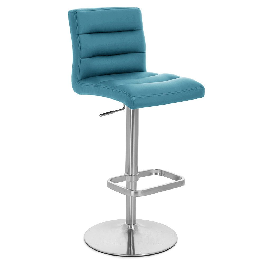 Amazon.com: Teal Lush Adjustable Height Swivel Armless Bar Stool ...