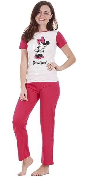 Conjunto de Pijama de Manga Corta para Mujer - Snoopy, Mickey, Minnie y Otros Personajes
