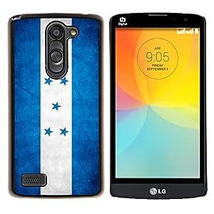 EJOOY---Cubierta de la caja de protección para la piel dura ** LG L Prime D337 / L Bello D337 ** --Nacional bandera de la nación País Honduras