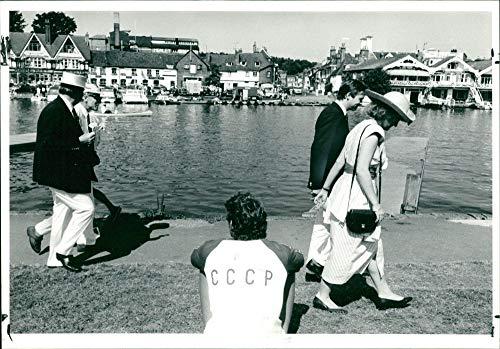 Henley Regatta (Vintage photo of Henley Royal Regatta.)