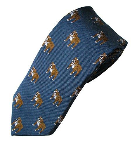 English Bulldog Tie (Men's Dog Breed Neck Tie) Bulldog Tie
