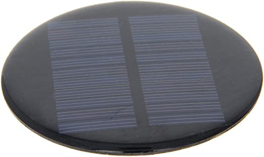 Fielect 6V Small Solar Panel Polycrystalline Silicon For Sun Power Battery Charger Outdoor 80MA Diameter 80mm