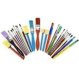 Artlicious - All Purpose Kids' Paint Brush Set (25 Brushes)