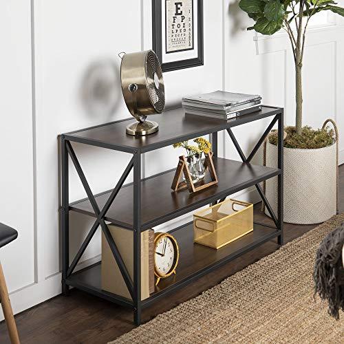 WE Furniture AZS40XMWDW Media Bookshelf, Dark ()