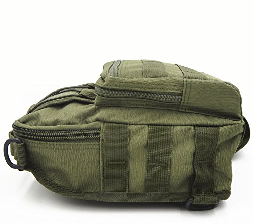 Correa Bolsa Tactical hombro Mochila verde Militar Sling Assault Ligero de Molle de Pack Deporte tekon Pecho Pequeño verde Rover 1qdf17