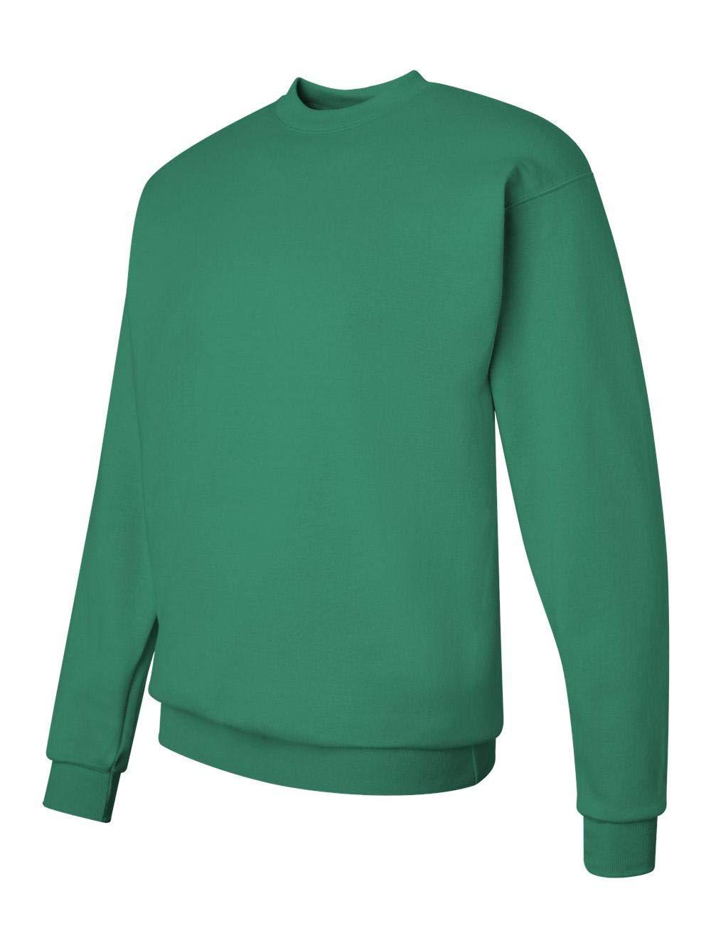 Hanes Men's EcoSmart Fleece Sweatshirt, Kelly Green Medium