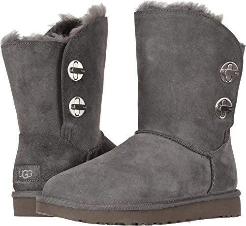 Classic Short Womens Ugg Australia (UGG Womens Classic Short Turnlock Boot, Charcoal, Size 9)