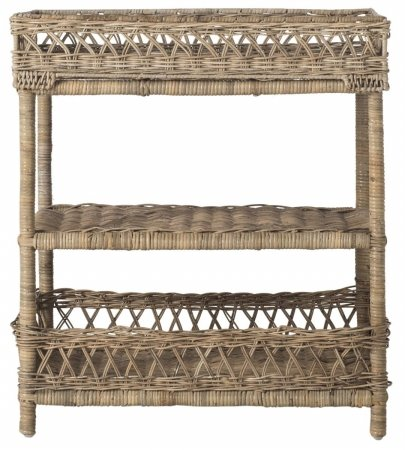 Safavieh Home Collection Ajani Natural Wicker 3 Tier Accent Table