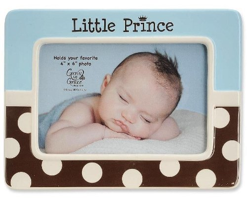 Blue Frame Prince (LITTLE PRINCE blue/chocolate frame by Enesco - 4x6)