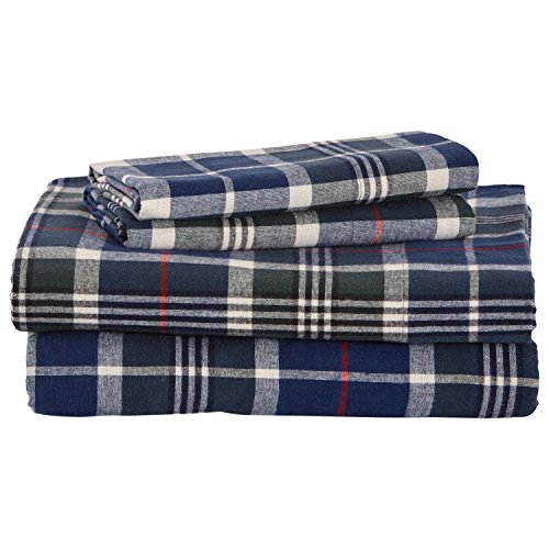 Stone & Beam Rustic Plaid Flannel Yarn-Dyed Sheet Set, Queen
