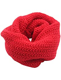 Naovio Autumn Winter Kids Boys Girls Knitted Infinity Scarf Warmer Neck Scarf