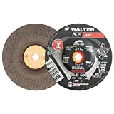 "Walter HP Grinding Wheel, Type 27, Threaded Hole, Aluminum Oxide, 5"" Diameter, 1/4"" Thick, 5/8""-11 Spin-On Arbor, Grit A-24-HPS (Pack of 20)"