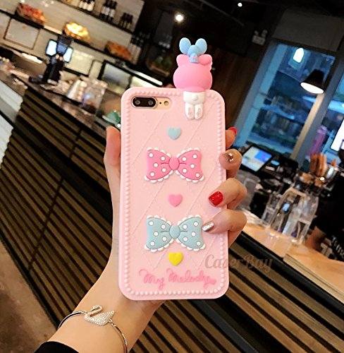 "[CaserBay] iPhone 8 & 7 4.7"" Phone Case 3D Cartoon Kawaii Colorful Animal Series Soft Silicone Rubber Cover (My Melody For iPhone 7 4.7"")"