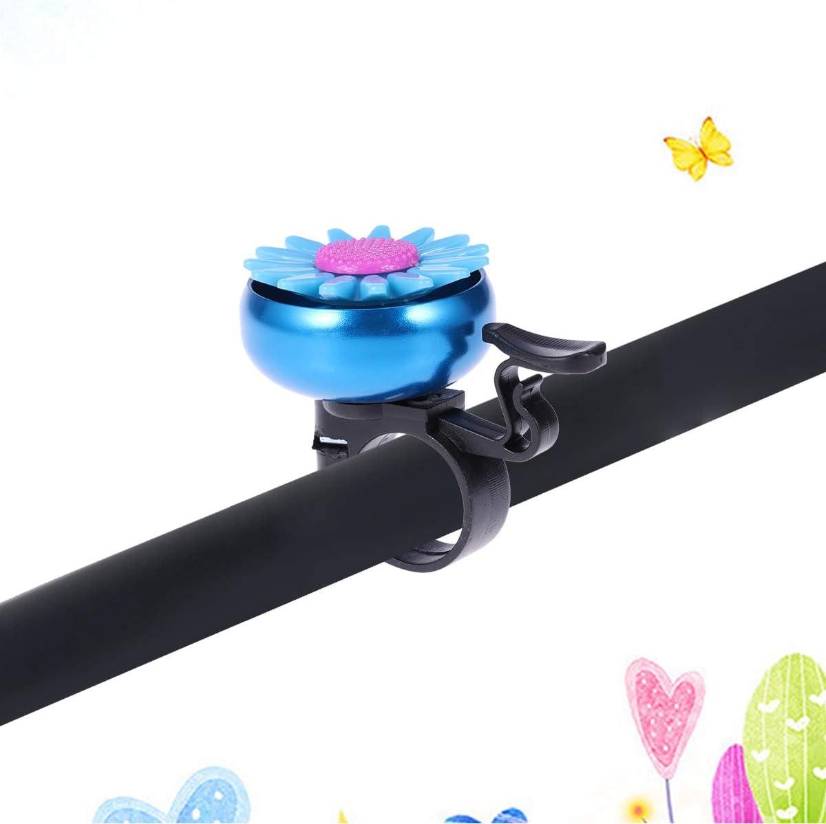 Blue BESPORTBLE Bike Bicycle Bell for Kids Boys Girls Children Cycling Bell Ring Horn Handlebar Ring Ringer Sunflower Shaped
