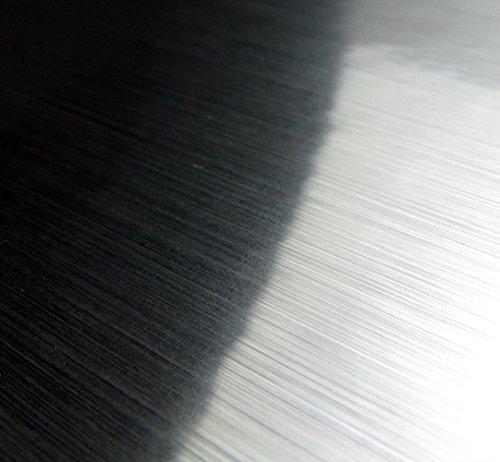 Adhesive Metal Look Adhesive Paper Metallic Peel Stick Paper Film Vinyl Waterproof Anti Greasy Gloss Shelf Liner Sticker For Kitchen Cabinet Backsplash Oven Refrigerator Dishwasher,15.8inch by 79inch