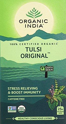 Tulsi Tea Original (Pack of 2 - Organic India Tulsi Original - 25 Tea Bags)