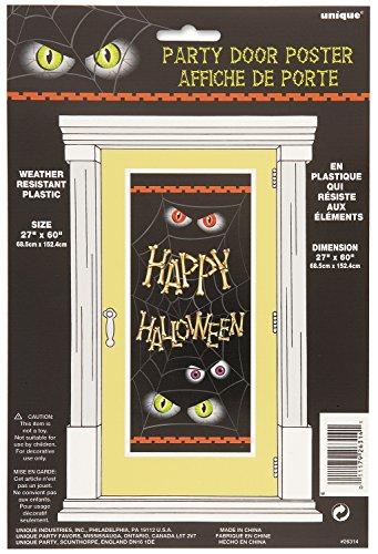 Halloween Door Poster Happy Halloween Spooky Eyes