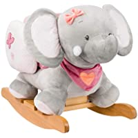 Nattou Adele The Elephant Rocker, Grey/ Pink