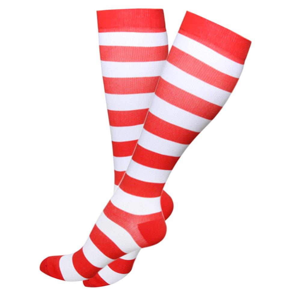 卒業圧縮ソックス20 – 30 mmHg – 中程度レディース&メンズの圧縮ストッキングfor Running、クロスフィット、travel- Suits、看護師、妊娠、脛骨過労性骨膜炎 B075V2W6HN L-XL|Christmas Red, 2 Pairs Christmas Red, 2 Pairs L-XL, webショップTAKIGAWA e234f870