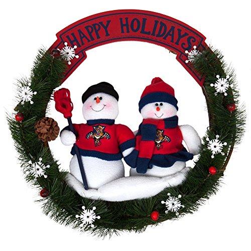 SC Sports Florida Panthers Team Snowman Wreath ()