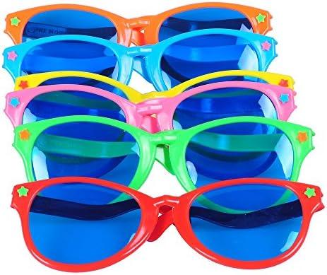 Seekingtag Colorful Jumbo Blue Lens Sunglasses for Costumes Cosplay Halloween...