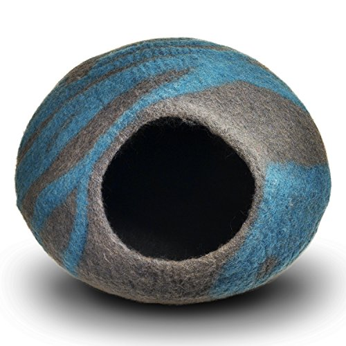 Buy cat cave bed wool