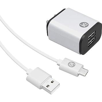 Cargador de Pared USB de 2,4 amperios con Cable USB-A a USB ...