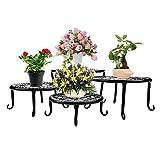 Metal Plants Stand Flowerpot Holder Iron Art Pot Holder, AISHN Flower Pot Supporting Indoor Outdoor Garden Pack of 4pcs with Different Size
