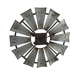 Special T Imports Small 16 Rustic Windmill Clock