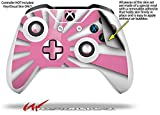 Rising Sun Japanese Flag Pink - Decal Style Skin fits Microsoft XBOX One S and One X Wireless Controller