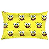 Pillow Cases Spongebob Face Throw Cushion Covers Body Pillow Cover for Car Sofa Bed Home Decor 20'x30'