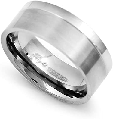 Wedding Bands Classic Bands Flat Bands SS 10mm Flat Size 10 Band Size 11