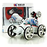 Kids toy DZT1968 Mini 360° Rotation 2CH RC control Radio Remote Control Racing Stunt Flip Car