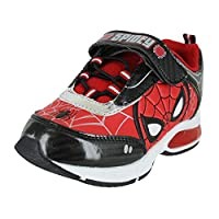 Favorite Characters Boys Marvel Spider-Man Lighted Sneaker, Red, 10 Toddler