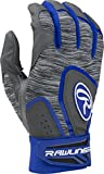 Rawlings 5150 Baseball Batting Gloves, Adult Large, Royal Blue
