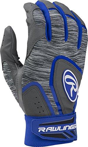Rawlings 5150 Baseball Batting Gloves, Adult Medium, Royal Blue