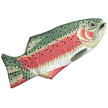 Rainbow Trout Oven Mitt, Quilted Cotton, Designed for Light Duty Use, by Boston Warehouse