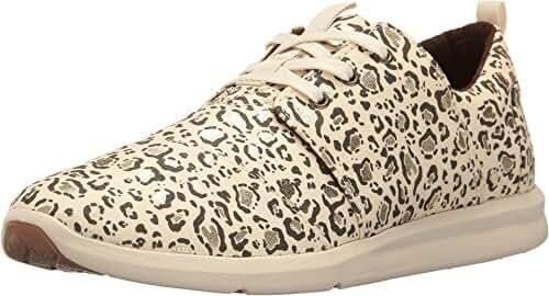 TOMS Women's Del Rey Sneaker Natural Bobcat/Gold Foil Oxford