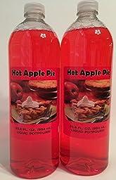 Ameriplus Hot Apple Pie Liquid Potpourri 33.6oz (Set of 2)