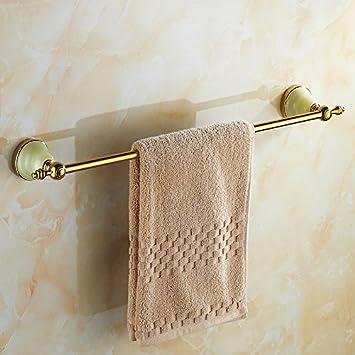 Qingv Oro decorativos de Jade de toallas de baño de oro colgante Racks Rack de toallas de baño europeo establece, solo Toallero 60cm: Amazon.es: Hogar