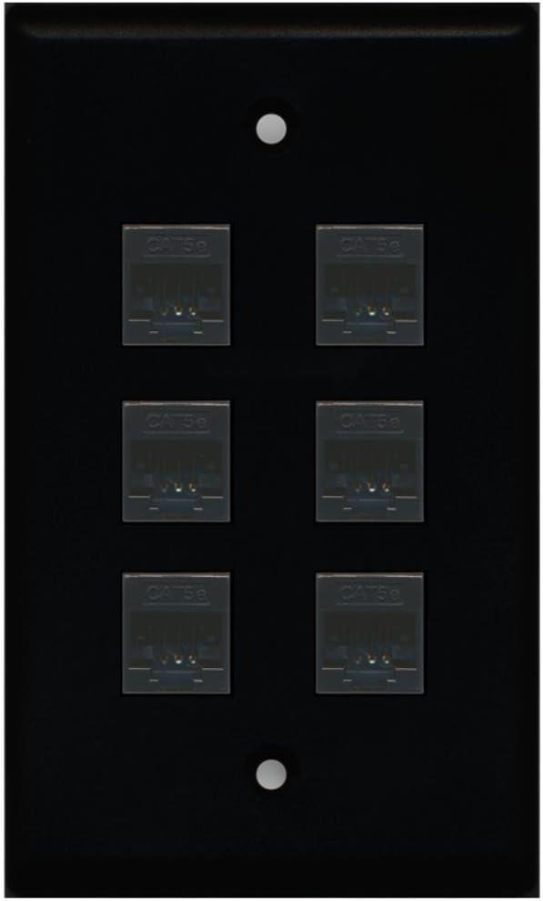 White RiteAV 1 Gang 1 Port Cat5e Wall Plate