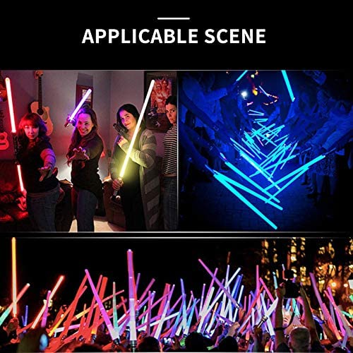 Riiai 2PCS Star Wars The Rise of Skywalker Foldable Retractable Lightsword Double-Side Lightsaber Colorful Lightsaber Toy Jedi Scalable Weapons For Boys Girls Cosplay Gift