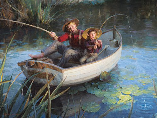 The Fishing Hole 500 pc Jigsaw Puzzle