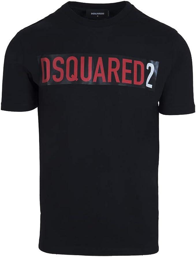 Dsquared2 - Camiseta para hombre - Color negro: Amazon.es: Ropa y accesorios