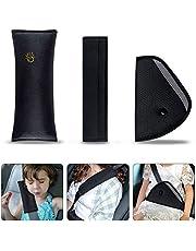 Gurtpolster Auto Kinder, URAQT Auto Sicherheitsgurt Schulterpolster Gürtelkissen Schutzkissen und Samtbeutel Groß für mehr Komfort auf der Reise