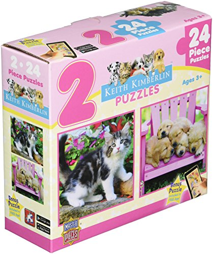 MasterPieces Fluffy Furballs Jigsaw Puzzle, 2-Pack
